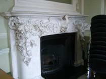 Fireplace in old Dining Room
