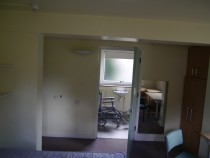 Haigh 2 room converted looking through to former Haigh 1 now accessible toilet dn