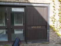Kings Head - front door and name dn
