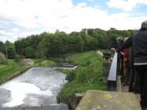 Bretton Hall Reunion 10May14 - history tour 3 weir on River Dearne