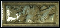 Carving of Militaria on Fascia Panel of the Tomb.