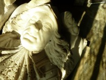 Detail of the Carving of Sir Thomas Wentworth.