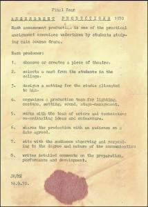 1970 Drama Assessment