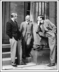 Three of the six Foundation lecturers in 1950