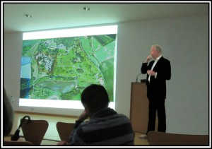 Mark Finch informed alumni of the latest developments and plans for the new hotel.
