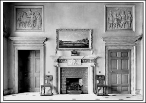 Fireplace in Portico Hall