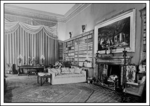 Library in 1938 with Painting by Morland