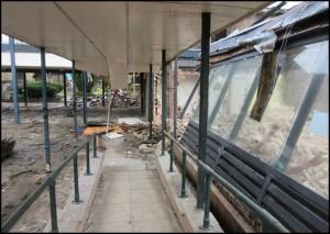 Demolition of walkway (2017)