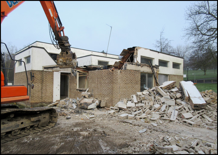 Continuing Demolition of the Dance Centre.