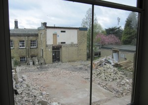 View from the first floor former Science rooms.