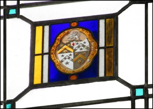 Armorial glass in the Lantern