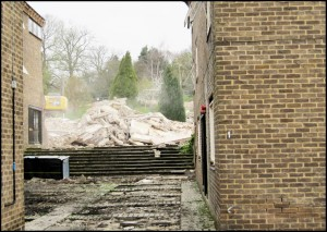 King's Head rubble at the top of the steps