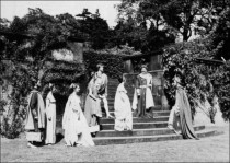 The Winter's Tale - 1955 - Performed on the Terrace steps and in the grounds of the formal gardens. All images of this production supplied by Martial Rose