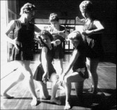 1959 - One of Margaret Dunn's Movement - Dance performances in College Hall. Image provided by Barbara Wright