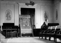 Music Lecture Room - c 1957 (This room was formerly the Breakfast Room when the Mansion was owned by the Allendale family.) Image provided by Tony Crimlisk.