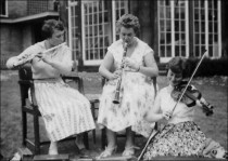 Practising Outdoors - 1957. Image provided by Elsie Hutchinson (nee Williams)