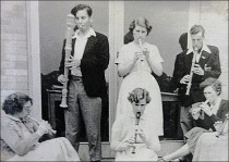 Recorder consort 1957. Image by Elsie Hutchinson.