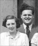 Dorothy Cropper and future husband - Selwyn Morris - 1950