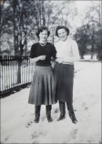 Dorothy Cropper (right) and friend in 1950