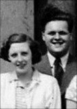 Dorothy Cropper with future husband, Selwyn Morris