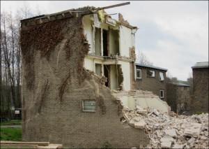 Demolition of Haigh Hostel - 2017