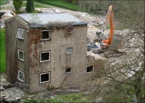 Demolition of Allendale Hostel - 2017