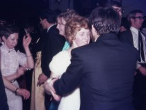 Foreground) Maureen Farnell; - (rear left) Ann Davies.
