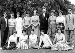 Students with Mrs Fleming 1960