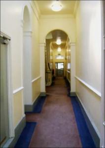 1st floor passageway in the Mansion - Women's bedrooms.