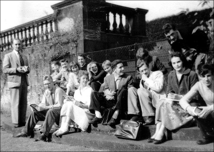 Rehearsing in the Terrace Gardens - 1959