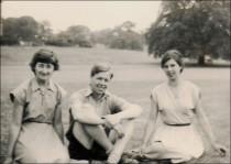 Margot, Derek & Hilary (daughter of the College Principal - John Friend)