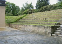 Seating Overlooking the Courtyard of the Experimental Theatre