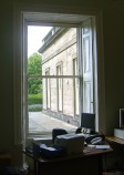 Adam Room Window Overlooking the Former Regency Library