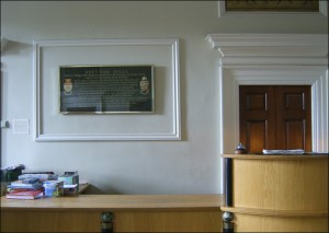 Reception Area in Portico Hall