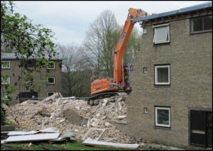 Starting to demolish Allendale