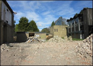 View of the Student Centre after demolition of the remainder of the Science Block
