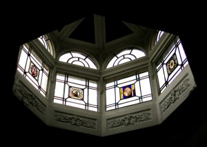Lantern above Pillar Hall