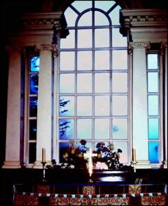 Palladian style window in Bretton Chapel