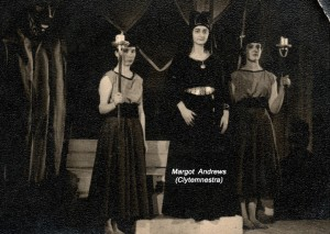 Margot Andrews (centre) as Clytemnestra in 'Les Mouches'.