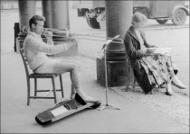 Rehearsal of trombonist