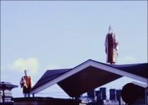 Stable Block rooftop scene from a performance in 1963.