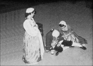 Performance of the Beggar's Opera by Bretton students at the Theatre Royal, Wakefield in 1988. Image from Paul Mann publication.