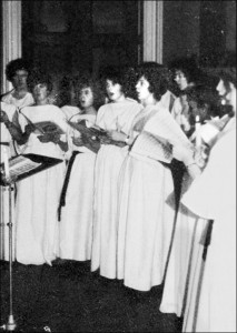 Ceremony of Carols - Christmas 1949. Photo provided by Leslie Burtenshaw.