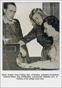 Informal Performance - Article in the News Chronicle - 1949. (Image provided by Leslie Burtenshaw).