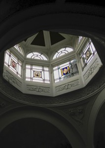 The dome and lantern above Pillar Hall enhanced accoustics for musical performances.