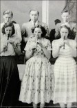 In the 1950s all students were encouraged to learn to play the recorder. Image by Elsie Hutchinson (nee Williams).