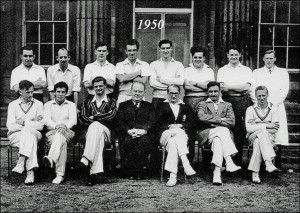 Students' and Tutors' Cricket Team in 1950