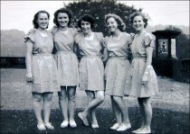 One of Miss Dunn's Movement groups on the Mansion Terrace in 1950