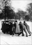 Breakdown of Daphne Bird's Car - 1950