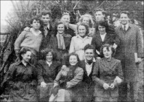 1950s group by the bonfire on November 5th, 1949